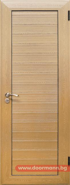 Алуминиева врата за баня - Светъл дъб