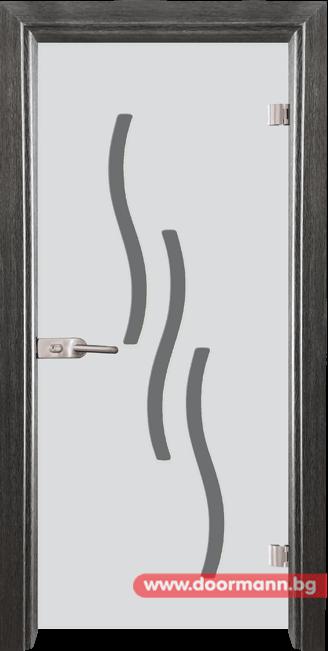Стъклена врата модел Sand 14-2 - Сив кестен