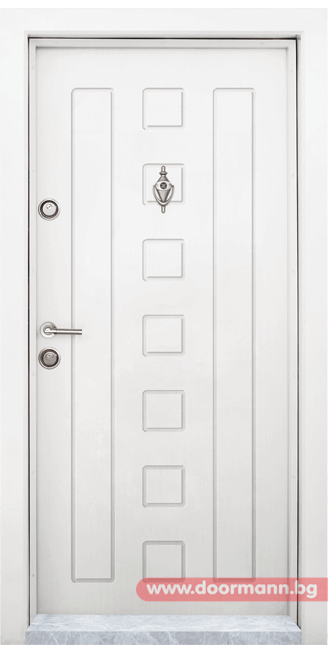 Блиндирана входна врата Т712 - Бяла
